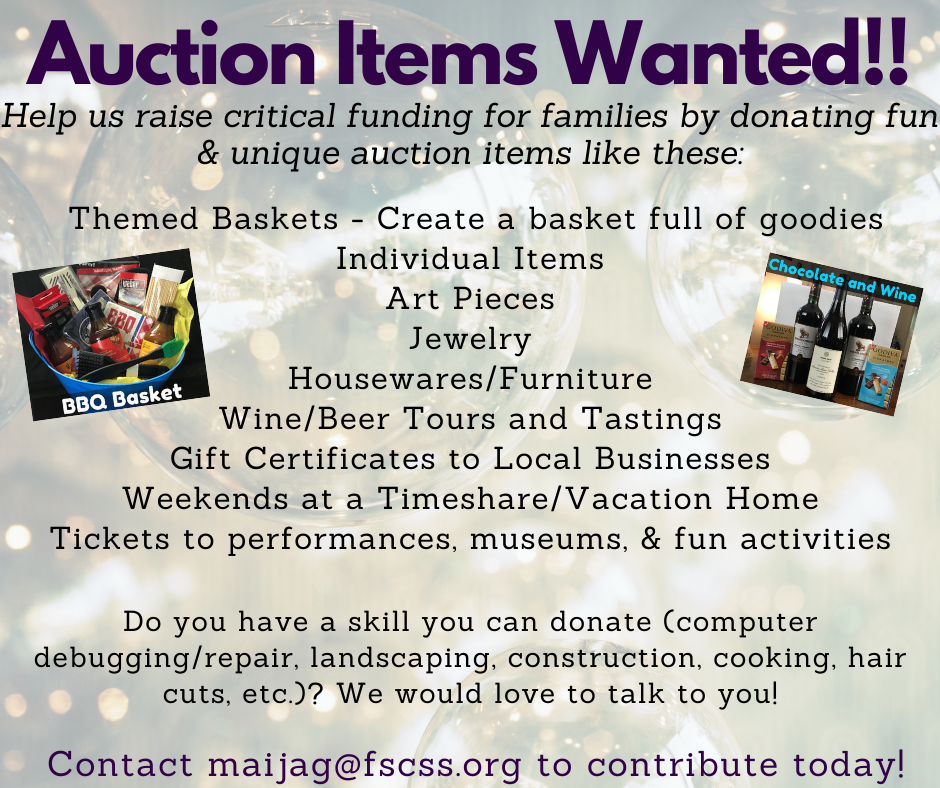 Auction Items Wanted!!
